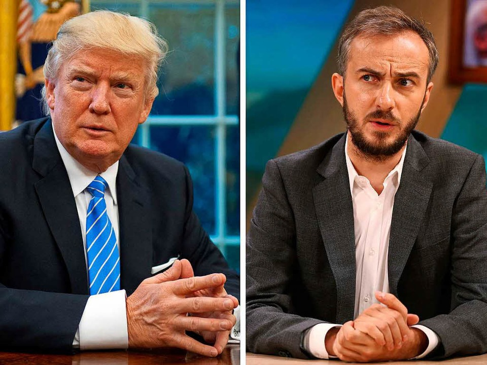 US-Präsident Donald Trump und Fernsehmoderator Jan Böhmermann  | Foto: dpa