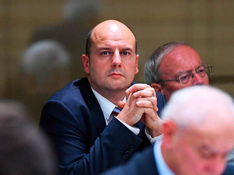 Der Ortenauer AfD-Abgeordnete Stefan Räpple im Landtag  | Foto: dpa