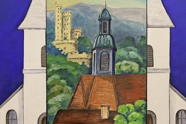 Die Bühlwegkapelle Maria Ruh in Öl, in Tempera auf Holz oder Glas