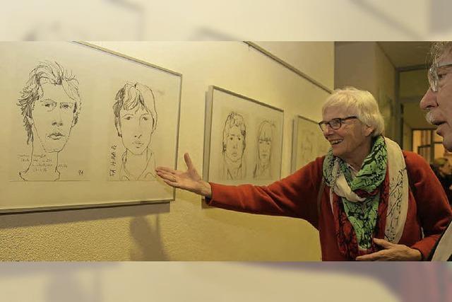 Ausstellung mit Bleistiftzeichnungen und Porträts von Herbert Schäfer