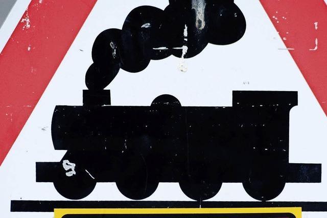 Die Bahnstrecke ist nur eingleisig befahrbar