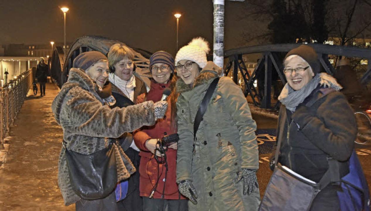 Margot Degand, Anne Reyers und Natalie...e Schumacher (von links nach rechts).   | Foto: Michael Bamberger