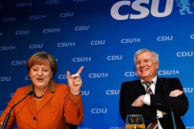 Union rauft sich für den Wahlkampf zusammen