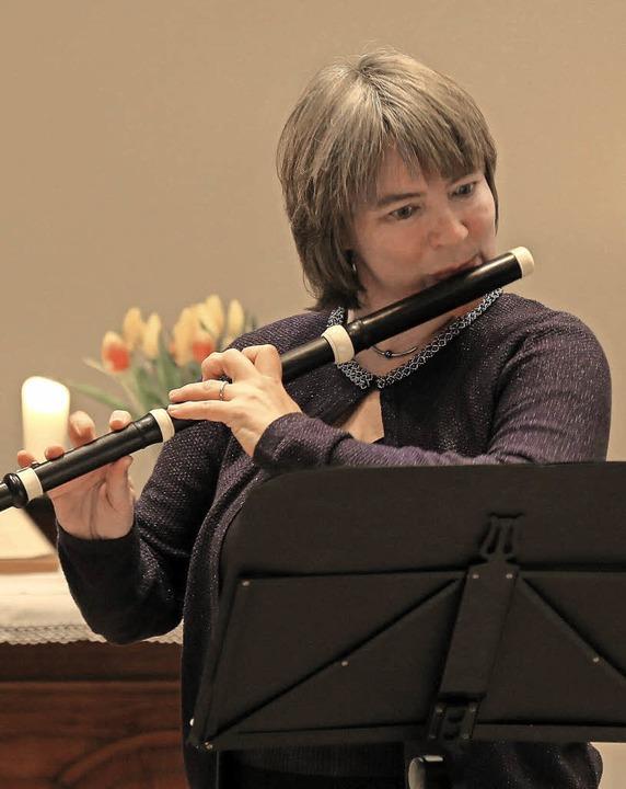 Die Emmendinger Kammermusikerin Sonja ...ert in der Ettenheimer Christuskirche     Foto: Sandra Decoux-Kone