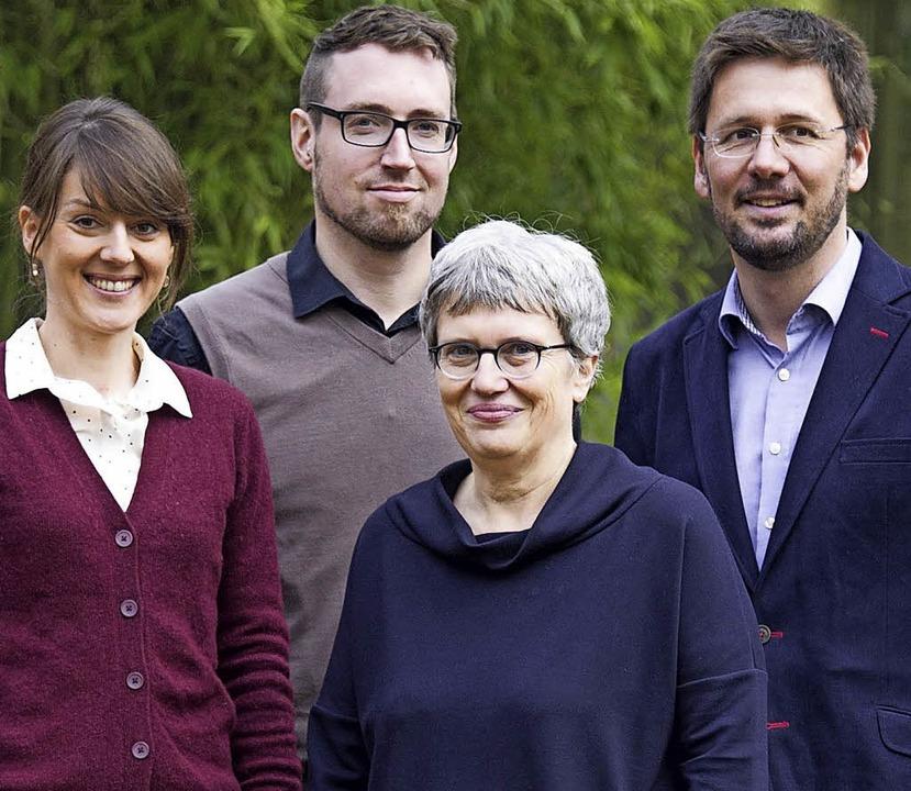 Das Beratungsteam mit Janine Lebrecht,...hle und Alexander Wünsch (vobn links).    Foto: Universität Freiburg