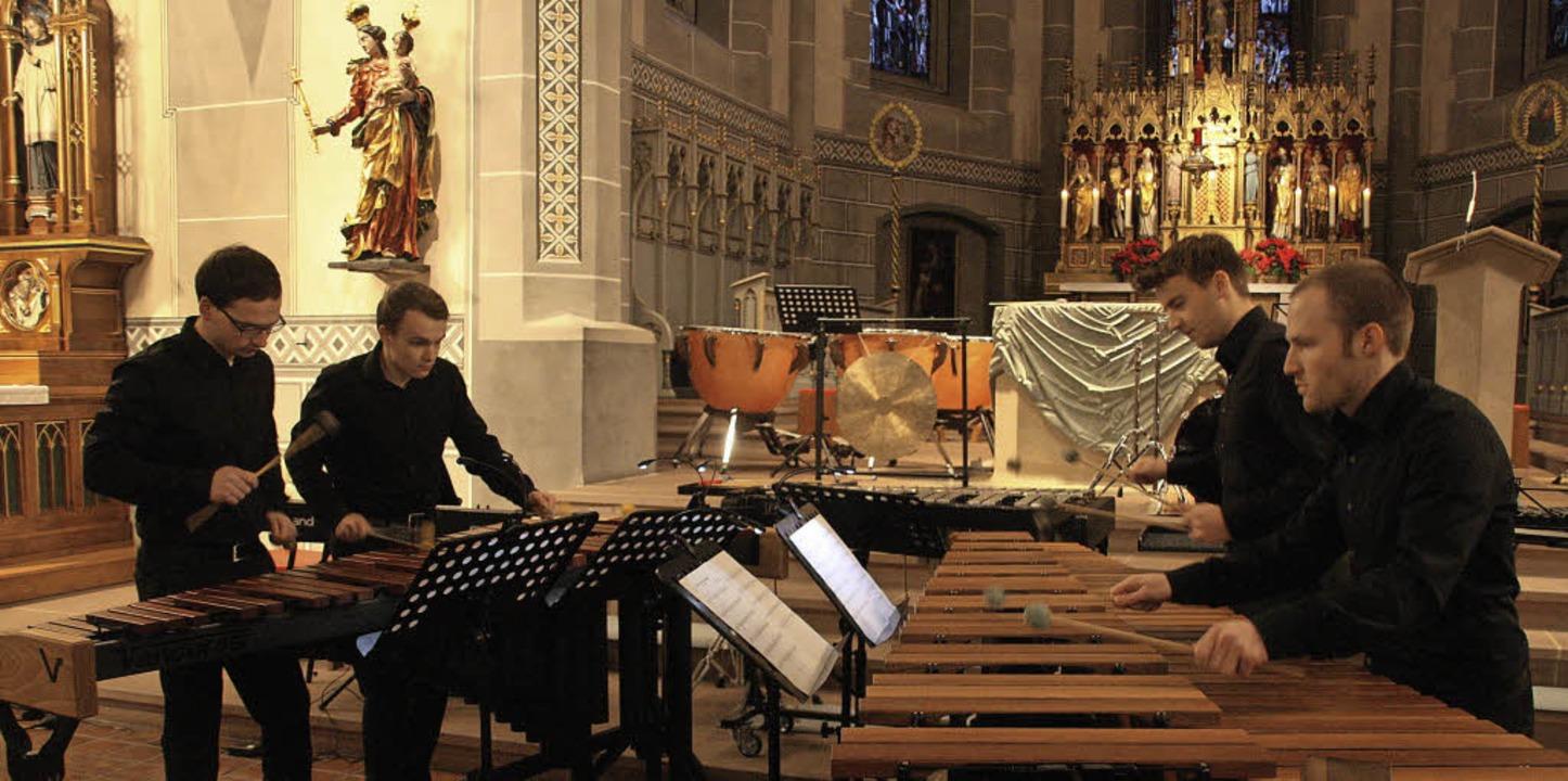 Das Percussion-Ensemble Non Tacet präs...usik und zeitgenössische Kompositionen  | Foto: Hans Jürgen Kugler