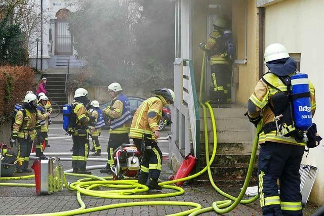 Brand in Bad Krozingen – Wohnung zerstört