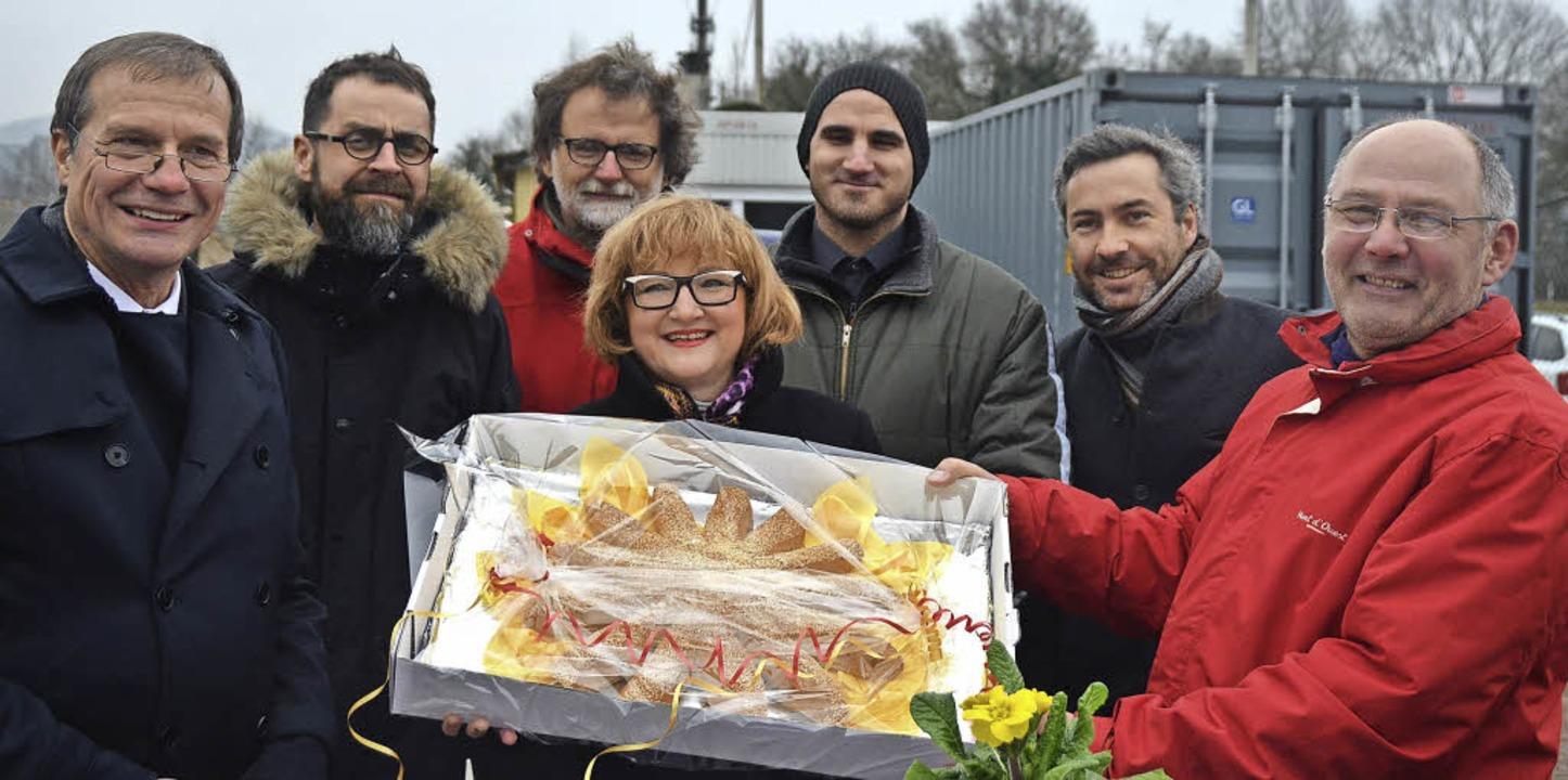 Große Freude bei der Eröffnung: Klaus ...ld, Alexander Sladek und Josef Pesch.   | Foto: Ralf H. Dorweiler