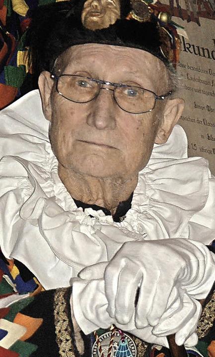 65 Jahre dabei: Ehrenzunftmeister Werner Lehmann    Foto: Hildegard Siebold