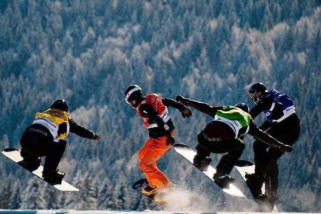 Erster Weltcup der Snowboardcrosser am Feldberg