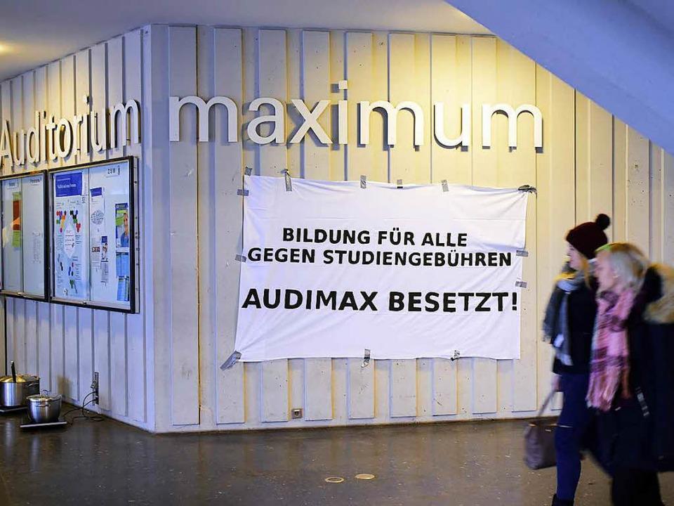 Protest gegen  Studiengebühren: Das Au...ität Freiburg war zeitweilig besetzt.   | Foto: Thomas Kunz
