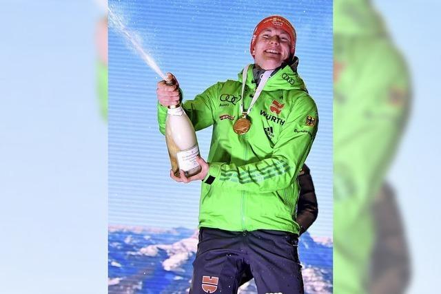 Benedikt Doll auf dem WM-Thron