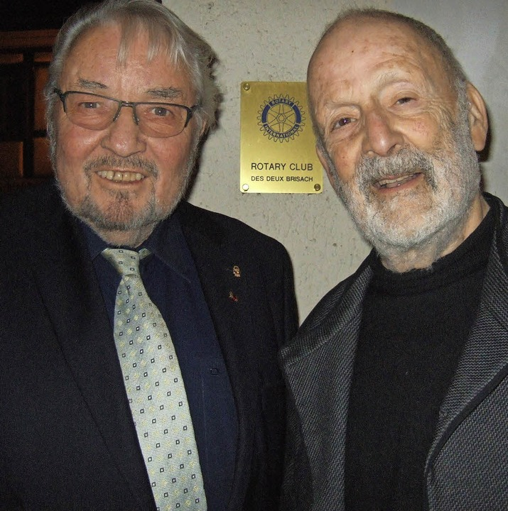 Karl Anton Hanagarth (links) und François Loeb     Foto: privat
