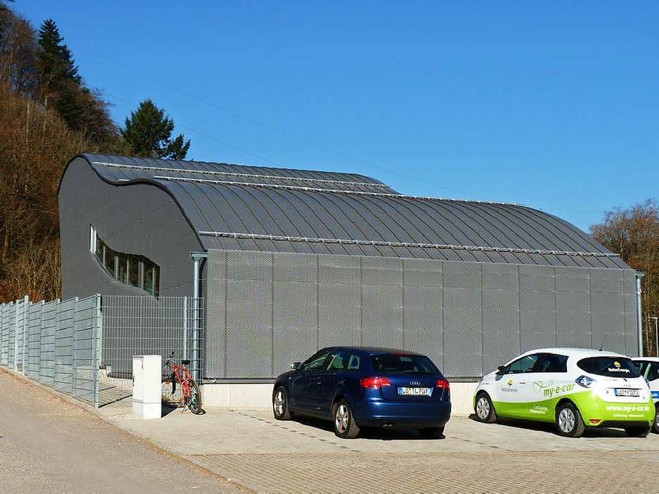 Das Kraftwerk Hausen I stammt aus dem ...llenförmiges Gebäude drumherum gebaut.  | Foto: Sattelberger