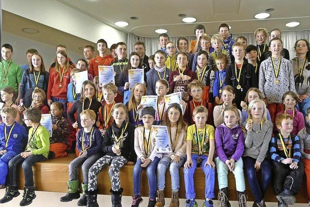 134 Kinder gehen beim Skifest an den Start