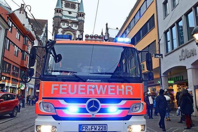 Freiburger Feuerwehr hat im vergangenen Jahr 333 Menschen gerettet