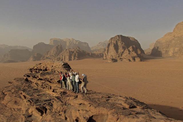 Pfarrerin Doleschal berichtet über eine Wanderreise nach Jordanien im evang. Pfarrhaus