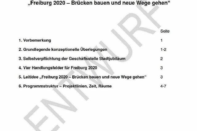 So sieht Barbara Mundels abgelehnter Konzeptentwurf zu Freiburgs Stadtjubiläum aus