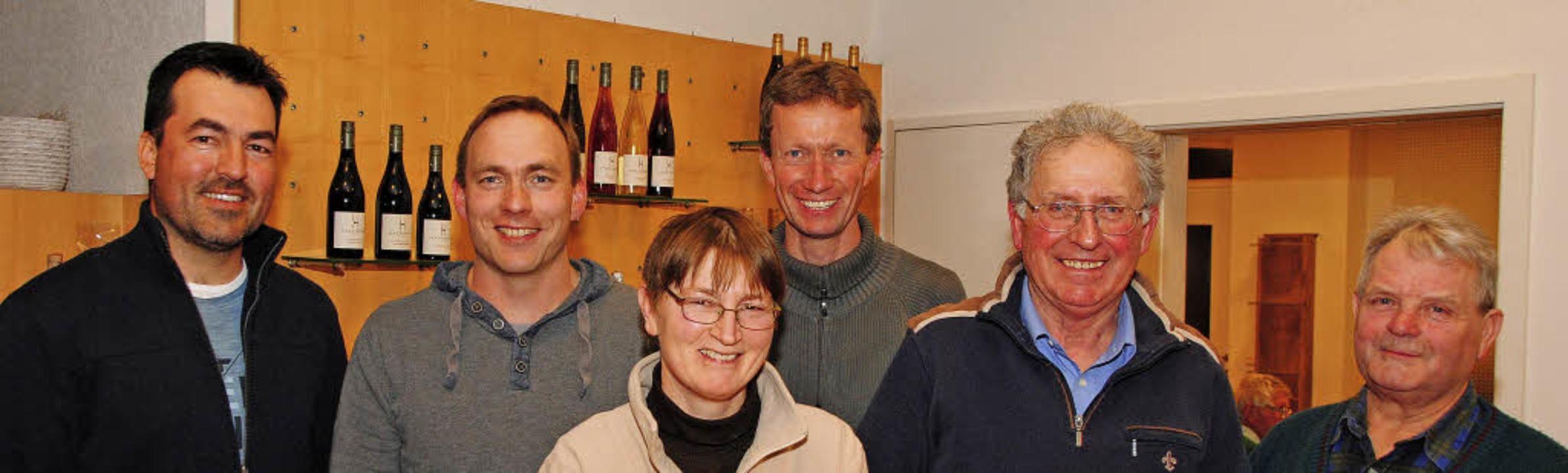 Der neue Vorstand des Vereins für Wein... Lehman und Alfred Wendle (von links)   | Foto: SEDLAK