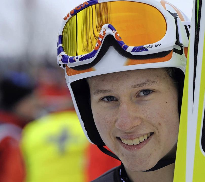 Am Traumziel: Skispringerin Ramona Str...bei der WM im finnischen Lahti dabei.   | Foto: seeger