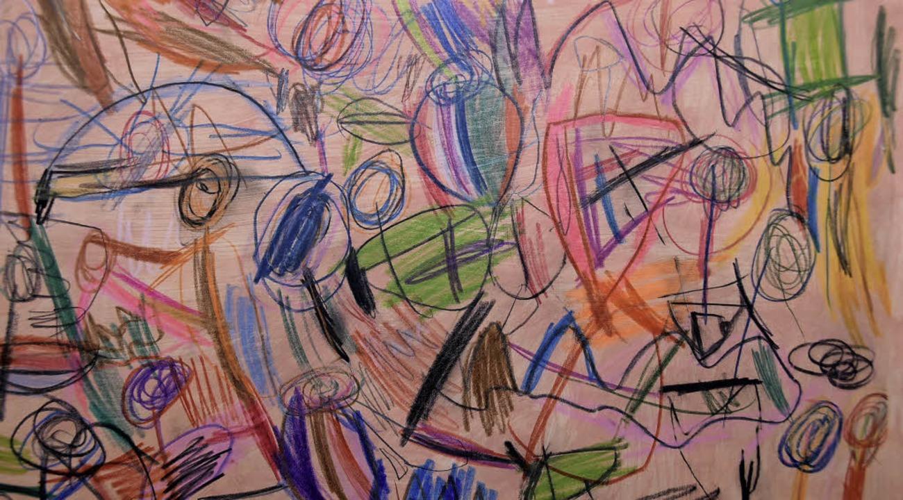 Aileens Malerei mit Buntstiften   | Foto: Andrea Steinhart