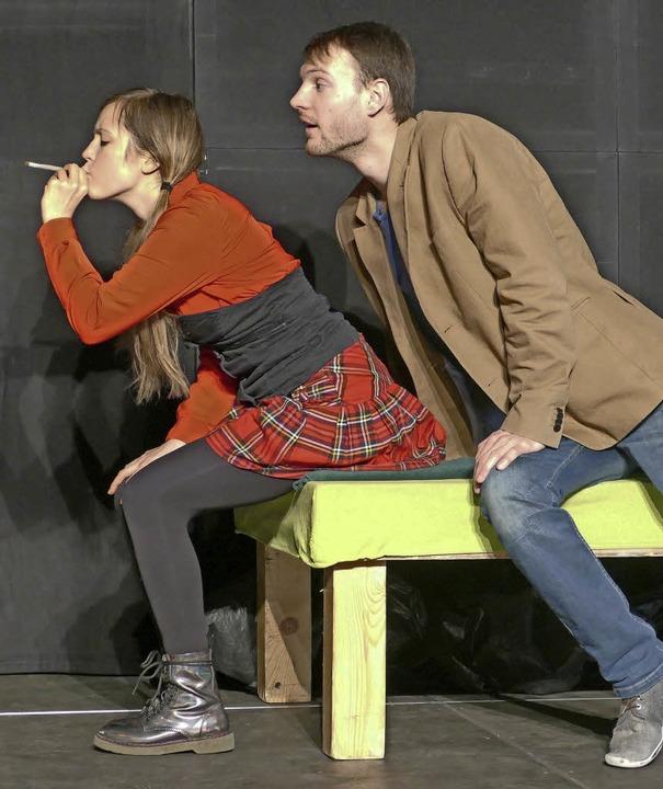 """Das Theaterstück """"Drogen –... Real- und Werkrealschule aufgeführt.     Foto: Emilia Keller"""