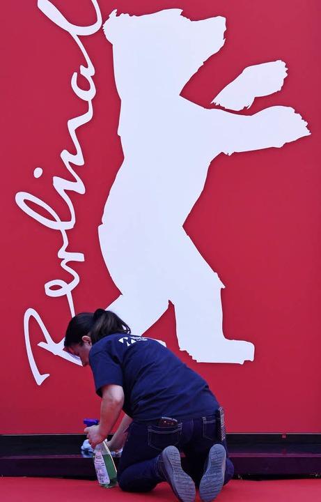 Damit es schön glitzert beim größten P...rrung unterhalb eines Berlinalebären.   | Foto: dpa