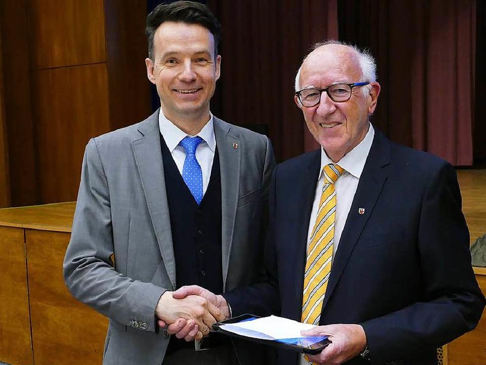 Bürgermeisterstellvertreter Walter Rom...liche Hand bei den künftigen Aufgaben.    Foto: Markus Donner