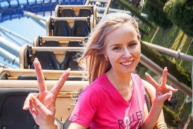 Julia Schwab aus Bleibach ist das erste Rollercoastergirl