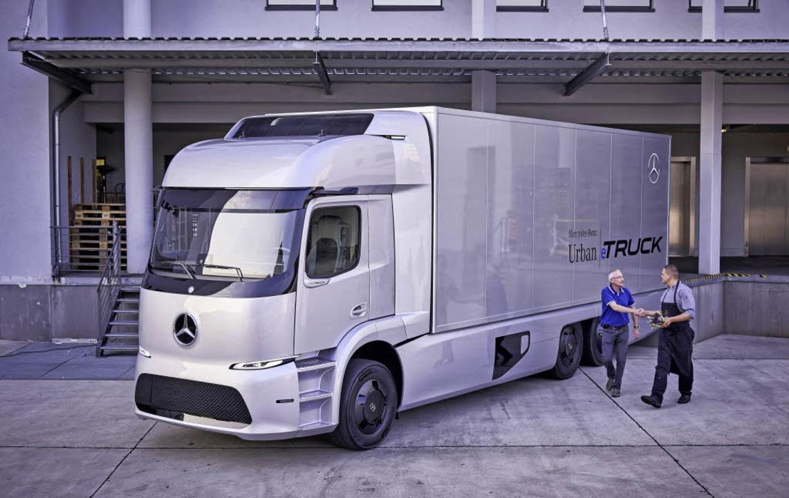 Ein vollelektrischer Mercedes-Benz Urban eTruck  | Foto: Daimler, Münch