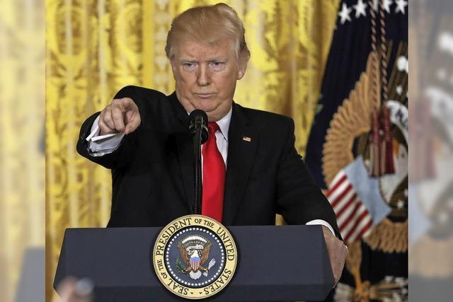 Der US-Präsident schwelgt in Selbstzufriedenheit