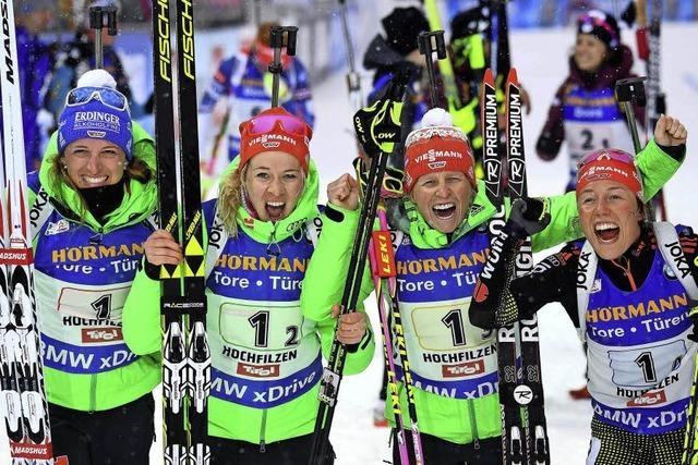 Dahlmeier krönt ihre Festspiele mit einer weiteren Goldmedaille