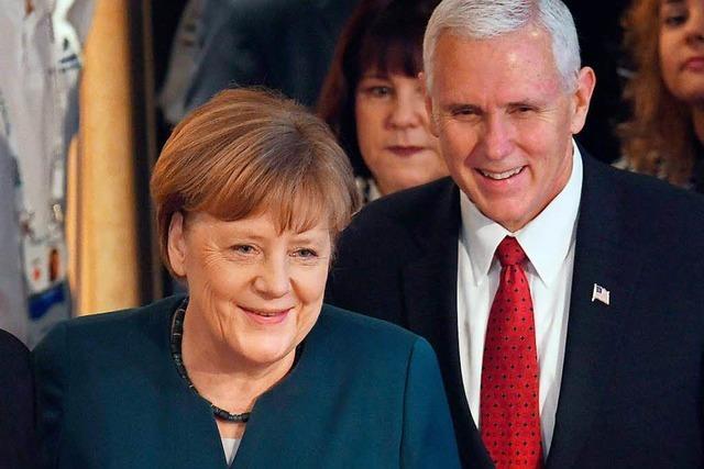 Trump-Vize Pence schwört Europa die Treue