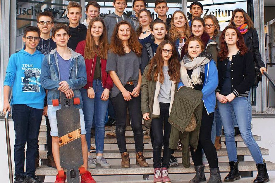 Klasse 9b des Theodor-Heuss-Gymnasiums aus Freiburg (Foto: Alice Bühler)