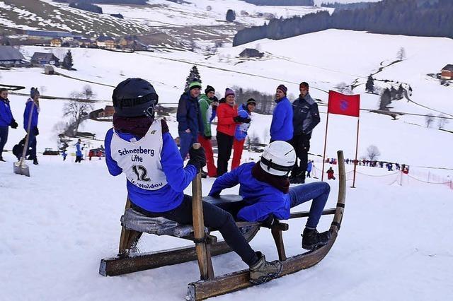 Waldau gewinnt Hornschlittenrennen in zwei Disziplinen