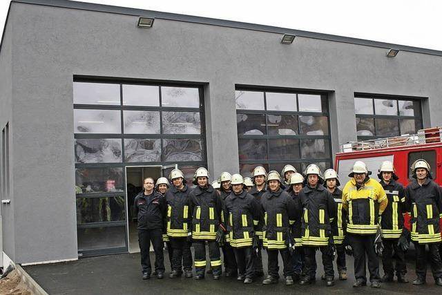 Feuerwehrhaus ist bezogen