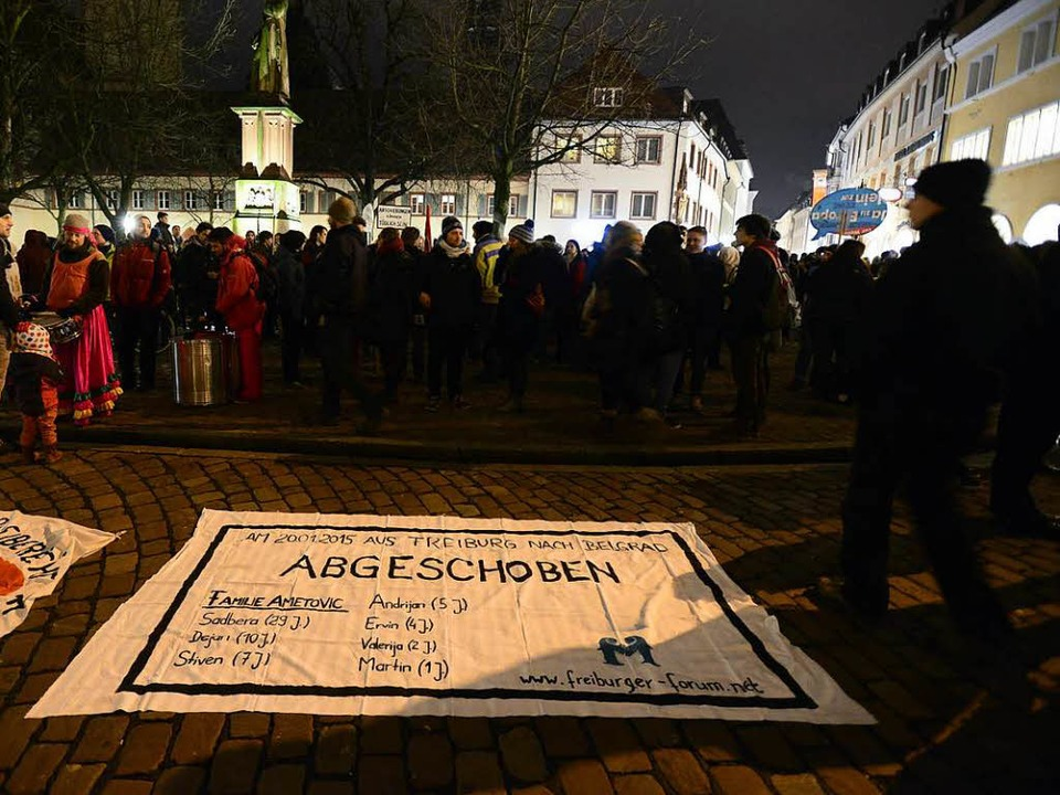 Eine  Demo  von 2015 gegen die Abschiebung der Ametovics   | Foto: schneider