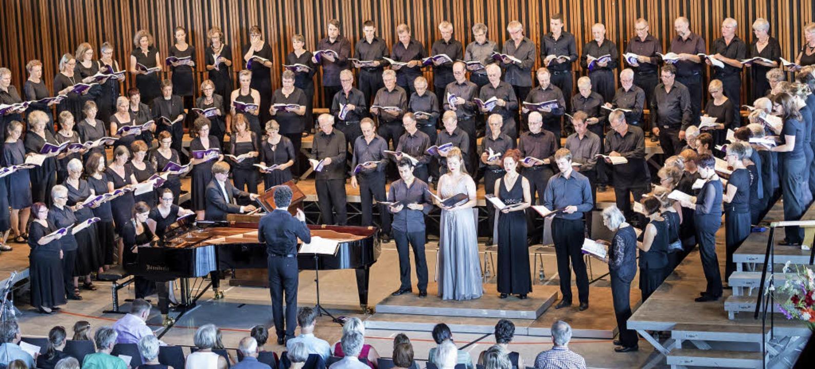 Der Gundelfinger Chor Cantemus bei einem seiner Konzerte   | Foto: Privat
