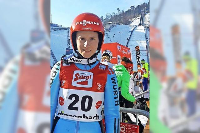 Skispringerin des SC Langenordnach startet erstmals bei einer WM der Aktiven