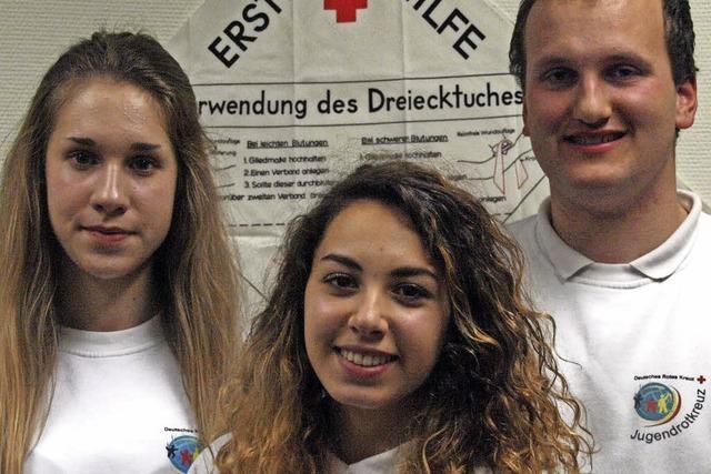 Unterstützung durch junge Helfer
