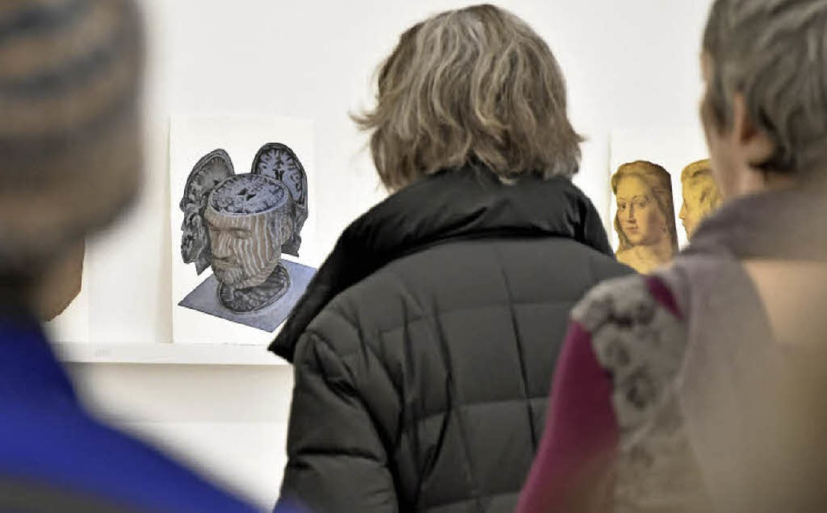 """Rundgang durch die Ausstellung """"...r sind"""" im Museum für Neue Kunst    Foto: Michael Bamberger"""