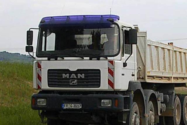 Die Last von 1100 Lastern kommt auf Gersbach zu