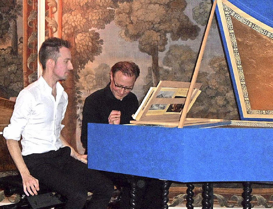 Kongeniales Duo: Jermaine Sprosse (Ham...alo) begeisterten beim Schlosskonzert.    Foto: Bianca Flier