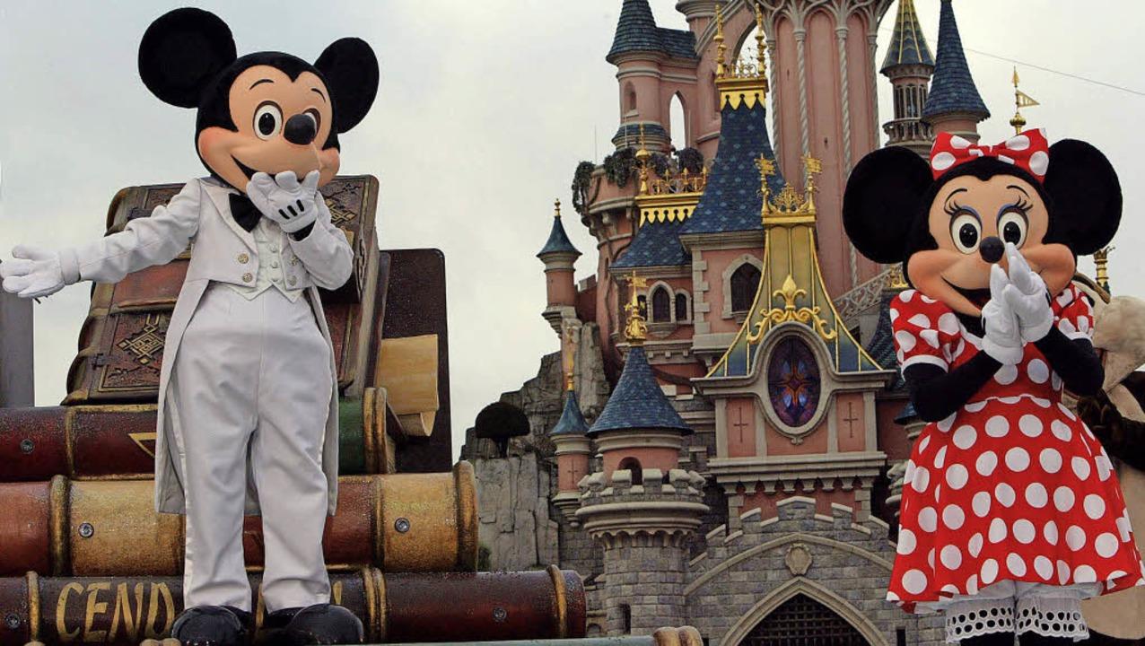 Uppps – Mickey Mouse and Minnie im defizitären Pariser Freizeitpark   | Foto: AFP