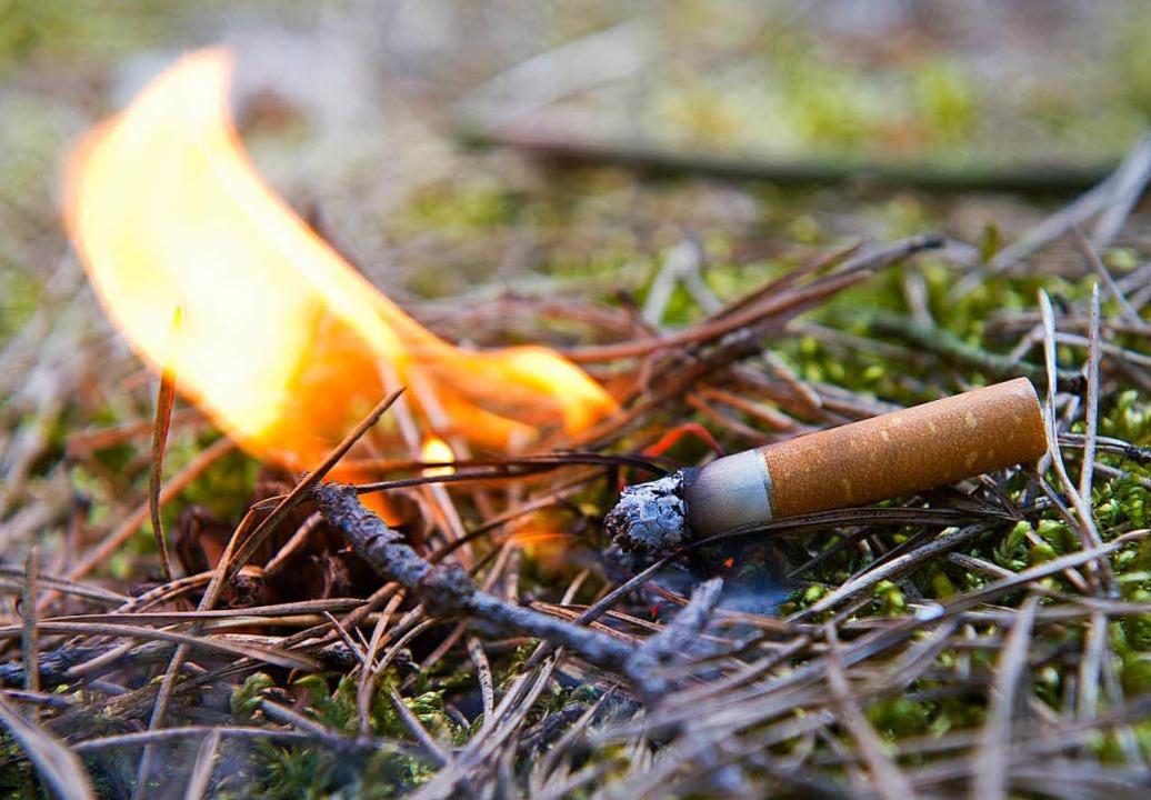 Die Polizei geht davon aus, dass eine Kippe den Brand auslöste (Symbolbild)  | Foto: dpa