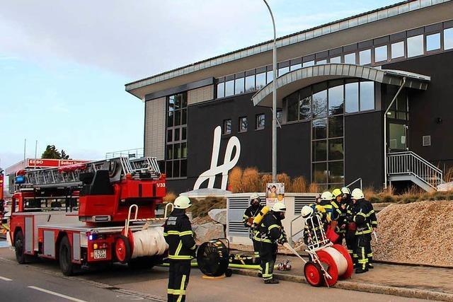 Feuerwehreinsatz im Hieber-Markt in Schopfheim