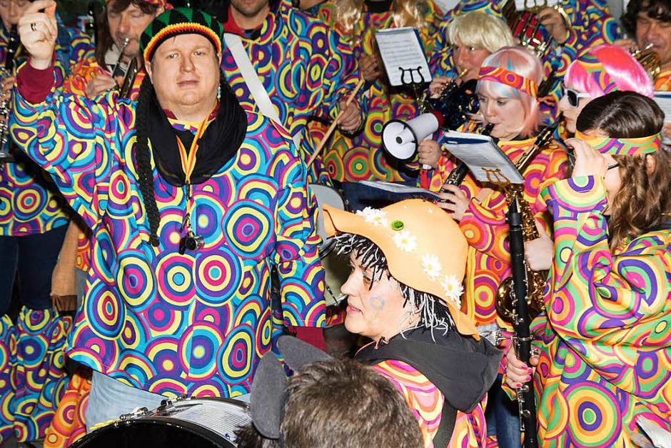 Für musikalische Stimmung im Rathaus in Ühlingen sorgte die Zunftmusik unter Leitung von Stefan Kunzelmann. (Foto: Wilfried Dieckmann)