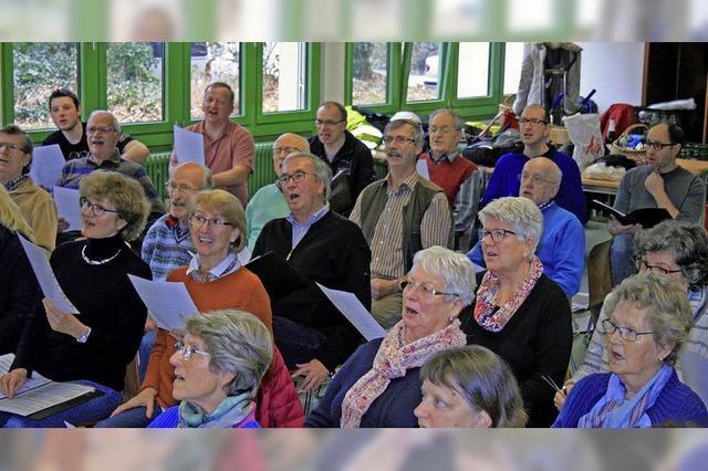 Chorgemeinscahft Lahr, MGV Sulz und Solisten singen