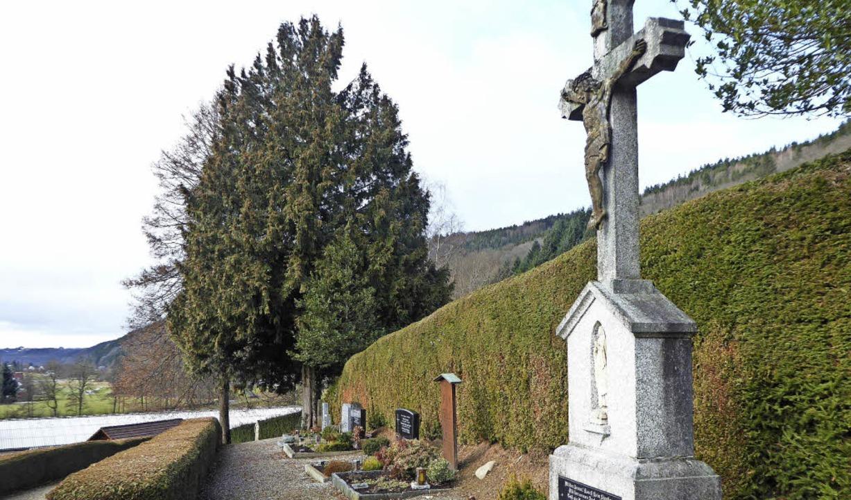 Der hintere Teil  der obersten Gräberr...d es künftig kein Grab mehr vergeben.   | Foto: Roland Gutjahr