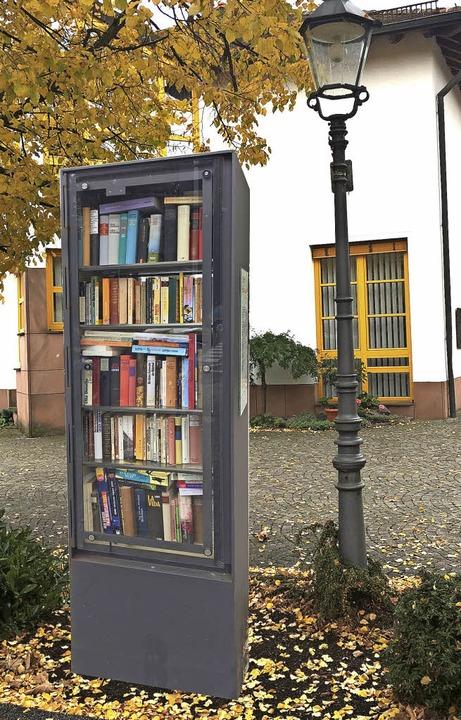 """So soll einmal der """"offene Büche...0; beim Ortenberger Rathaus aussehen.     Foto: Montage: Bürgerstiftung"""